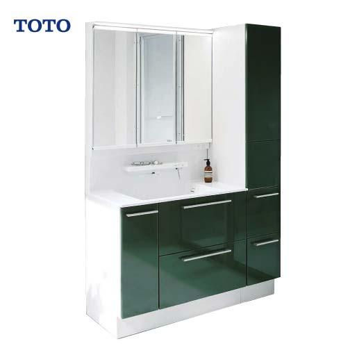 メーカー直送 受注生産 TOTO 洗面化粧台 オクターブ 間口1200mm [ミラー:LMFA090A3GHC1G 下台:LDSFA090BDGAN1T] 三面鏡