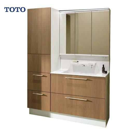 メーカー直送 受注生産 TOTO 洗面化粧台 オクターブ 間口1350mm [ミラー:LMFA090A3SHC1G 下台:LDSFA090BCGAN1E] スウィング三面鏡