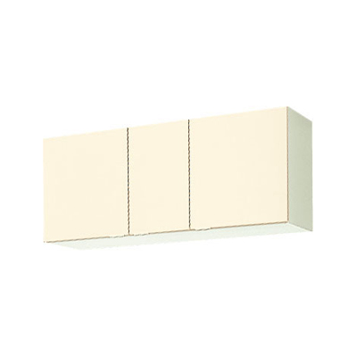 メーカー直送品 LIXIL リクシル セクショナルキッチン 木製キャビネット GKシリーズ 不燃仕様吊戸棚 間口120cm[GK(F・W)-A-120F(R・L)]高さ50cm