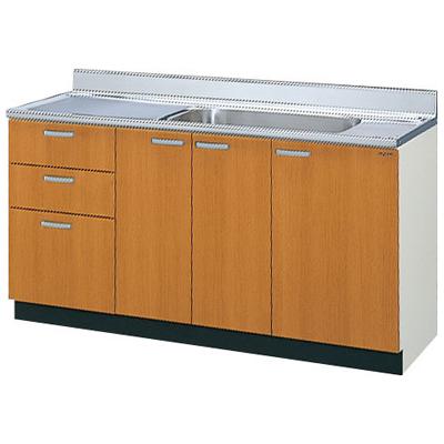 メーカー直送品 LIXIL リクシル セクショナルキッチン 木製キャビネット GSシリーズ 流し台(点検口付)間口150cm[GS(M・E)-S-150MXT(R・L)]3段引出し