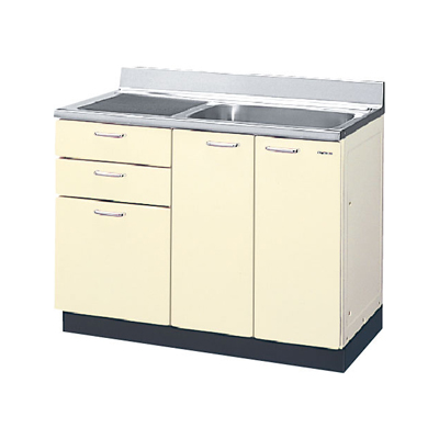 メーカー直送品 LIXIL リクシル セクショナルキッチン HRシリーズ 流し台 間口105cm(点検口付)[HR(I・H)2S-105AT(R・L)]3段引出し