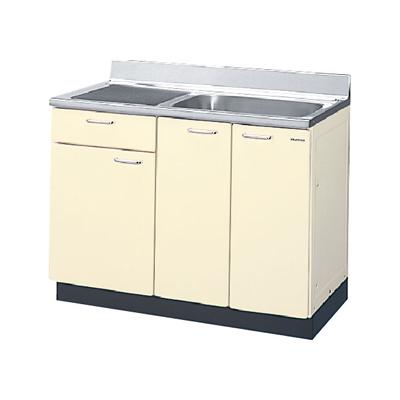メーカー直送品 LIXIL リクシル セクショナルキッチン HRシリーズ 流し台 間口105cm[HR(I・H)2S-105B(R・L)]1段引出し