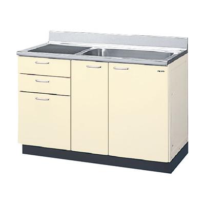 メーカー直送品 LIXIL リクシル セクショナルキッチン HRシリーズ 流し台 間口120cm(点検口付)[HR(I・H)2S-120AT(R・L)]3段引出し