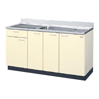 メーカー直送品 LIXIL リクシル セクショナルキッチン HRシリーズ 流し台 間口150cm[HR(I・H)2S-150B(R・L)]1段引出し