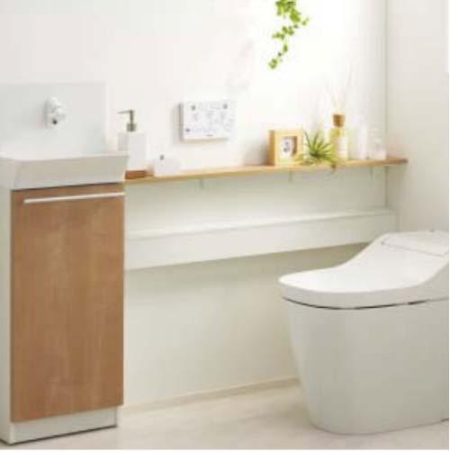 アラウーノ専用手洗い キャビネットタイプ [XGH7J**WN] 小物収納なし ペーパーホルダー付き 自動水栓 タイプA 受注生産品 床排水 壁排水