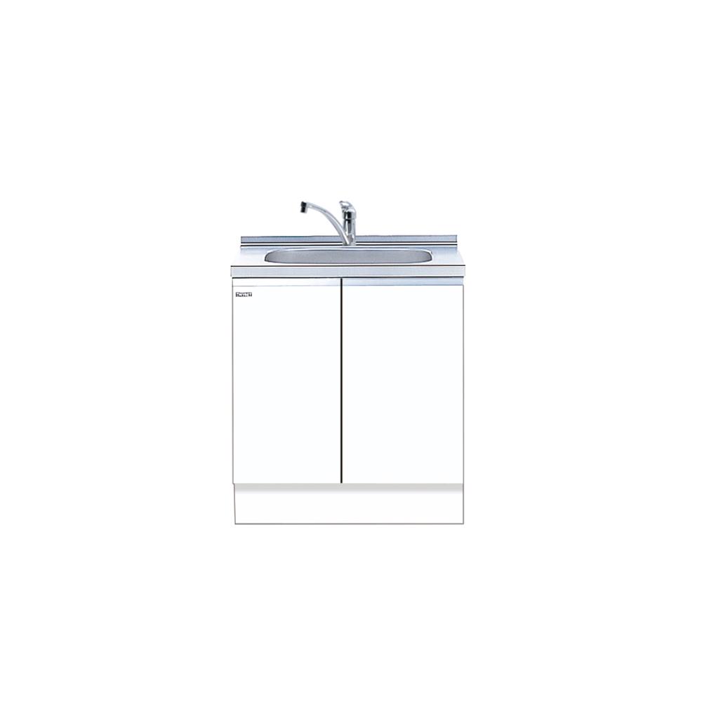 メーカー直送 送料無料 【マイセット】キッチン 単体キッチン 深型組合わせ流し台 全槽流し台 M4 トップ出し水栓仕様 間口75cm[M4-75DS*]【MYSET】 道幅4m未満配送不可