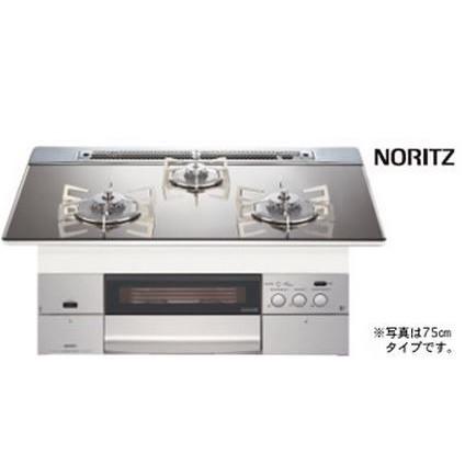 NORITZ N3WM3PWASKSTESビルトインコンロ S-BLINK revor ●プラチナシルバーガラストップ ステンレスゴトク 60cm幅★