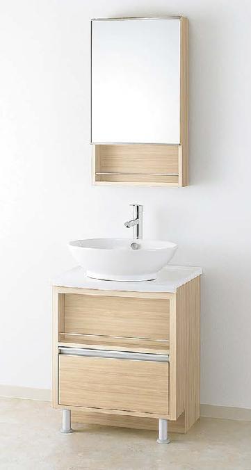 メーカー直送 アサヒ衛陶 洗面化粧台 [LGA001M] オーラ 間口600mm デザインタイプ