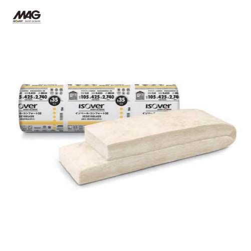 メーカー直送 MAG イゾベール・コンフォート 寒冷地・高断熱住宅向けグラスウール [IC35089N420] 厚さ×幅×長さ(mm):89×420×2650 入数8枚