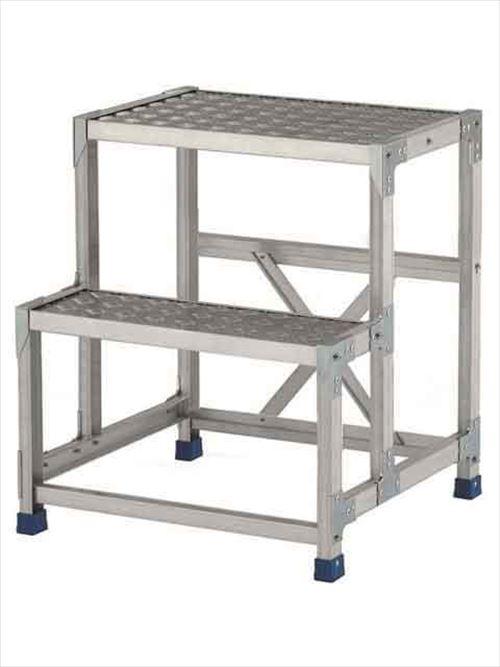メーカー直送【法人様限定】 アルインコ(ALINCO)作業台 ステンレス金具仕様作業台(天板縞板タイプ)2段天板高さ700mm [CMT-276S]  送料別途見積り