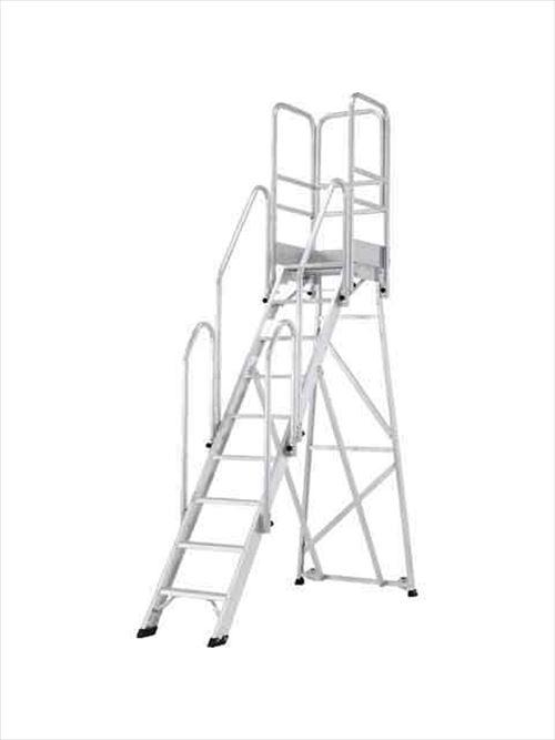 メーカー直送【法人様限定】 アルインコ(ALINCO)作業台 折りたたみ式作業台(背面キャスター、フル手すり標準装備) CSD-F 天板高さ2.25m [CSD-225F]