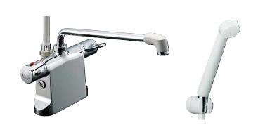【LIXIL】【リクシル】シャワーバス水栓/デッキタイプ 浴槽・洗い場兼用サーモスタット[BF-B646TNSD(300)-A100]【INAX】【イナックス】