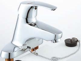 【LIXIL】【リクシル】洗面器・手洗器用水栓 EC/センターセットタイプシングルレバー ビーフィット(エコハンドル)[LF-B355SY]【INAX】【イナックス】