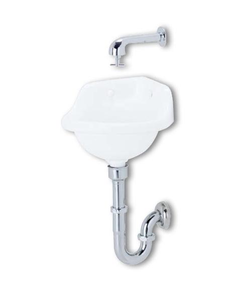 メーカー直送 アサヒ衛陶 隅付手洗器セット [L1PSET] Pトラップ仕様