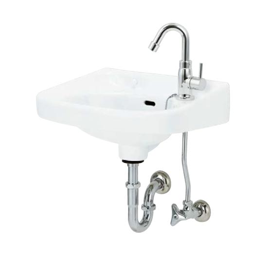 メーカー直送 アサヒ衛陶 平付洗面器セット [L250DPSET] Pトラップ仕様