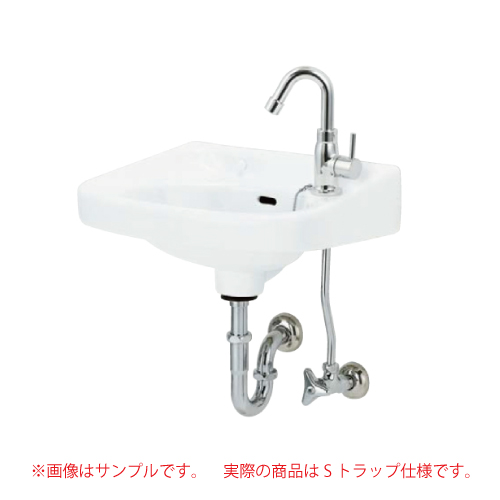 メーカー直送 アサヒ衛陶 平付洗面器セット [L250DSSET] Sトラップ仕様