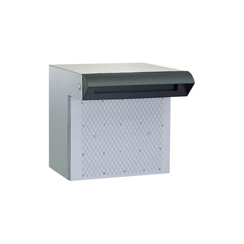メーカー直送 送料無料 HSK ポスト 戸建用 ステンレス ポスト差入口 [676-BK] ハッピー金属