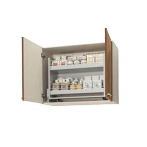 単体キッチン スミレ カラー WS9W-60MD[ホワイト] WS4B-60MD[モカウッド] メーカー直送 送料無料 セクショナルキッチン 木キャビキッチン すみれ ムーブダウン吊戸棚(高さ70cm) [WS**-60MD] 間口60cm クリナップ