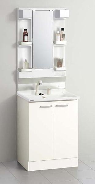 メーカー直送 送料無料 クリナップ 洗面化粧台 BGAシリーズ [ミラー:M-L601GAKN 洗面化粧台:BGAL60TNMKWS] 間口60cm 1面鏡 洗面セットプラン