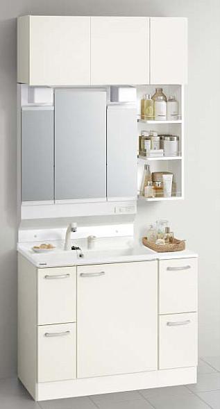 メーカー直送 送料無料 クリナップ 洗面化粧台 BGAシリーズ 洗面セットプラン 間口100cm 3面鏡