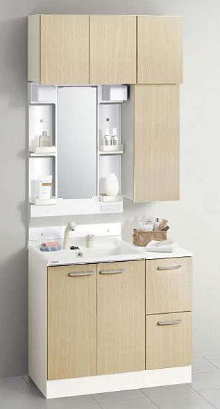 メーカー直送 送料無料 クリナップ 洗面化粧台 BGAシリーズ 間口90cm 1面鏡 洗面セットプラン