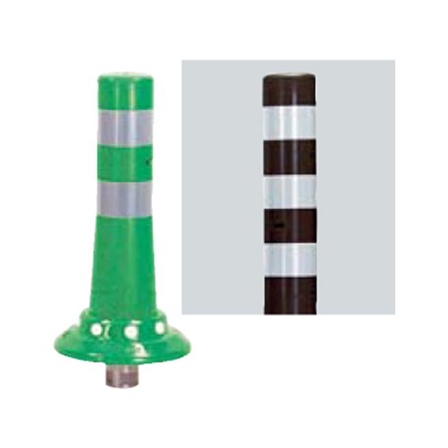 メーカー直送 サンポール ガードコーン φ80,台座径φ200×H400mm カラー:茶 [RBKC-40(C)]