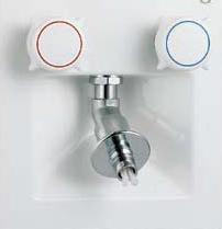 【LIXIL】【リクシル】洗濯機用水栓金具洗濯機用水栓金具 埋込タイプ(樹脂配管用) 混合水栓[SF-8RQ-DS]【INAX】【イナックス】