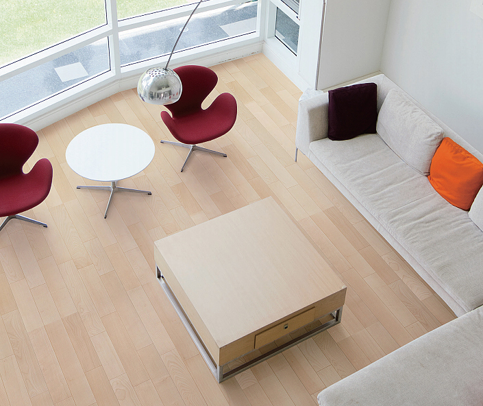【イクタ】床材 銘木フロアーMAX ハードタイプ 床暖対応 6枚入り 3.3 1X6 2P 横Vミゾ付 ウォールナット[W-132H]