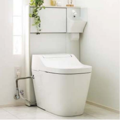 アラウーノ専用手洗い 背面タイプ [XGH8HGSGZ△] 壁排水 (後ろ抜き) 手動水栓 タイプB