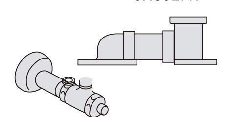 パナソニック アラウーノ用配管 床排水リフォームタイプ 配管セット[CH301FR] Panasonic