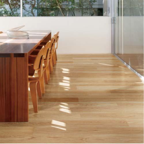 送料無料 【イクタ】床材 厚貼フローリング 床暖対応 2.0mm単板 14枚入り 3.05 12X120X1818 ナラ[NK-218-L]