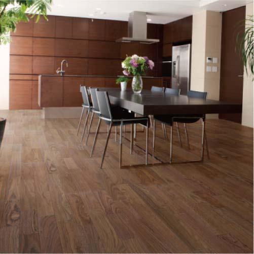 【イクタ】床材 銘木フロアーST 床暖対応 6枚入り 3.3 1X6 3P 横Vミゾ付 ウォールナット[W-033S]