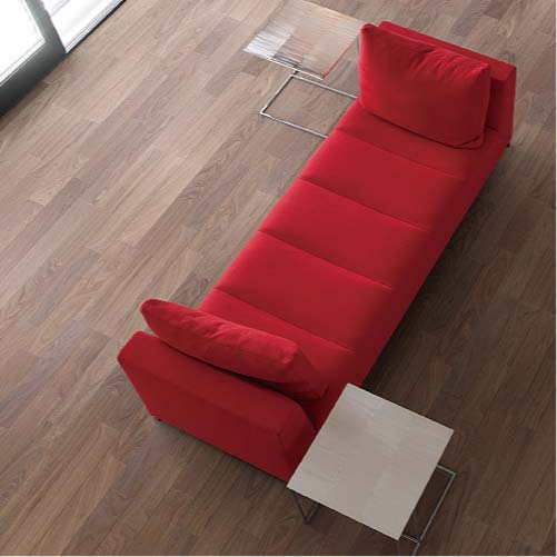 【イクタ】床材 銘木フロアー ラスティック 床暖対応 6枚入り 3.3 1X6 3P 横Vミゾ付 ウォールナット[WR-033]