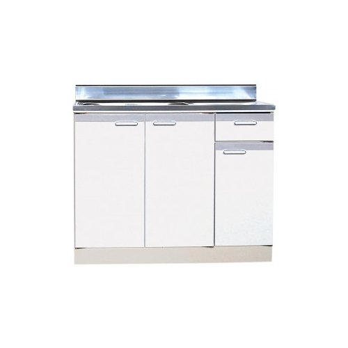 メーカー直送品 法人様限定商品 地域限定 送料無料 セクショナルキッチン 流し台 左右水槽有り Rタイプ [RRBN-900(R/L)**] ライフ 幅900 奥行460