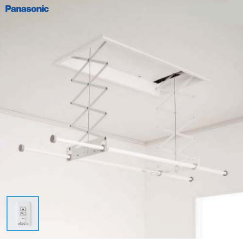 Panasonic パナソニック CWFT21SA 室内物干しユニット ホシ姫サマ 天井付け 天井埋め込み 竿2本・電動 ショートサイズ 壁スイッチタイプ 旧品番:CWF21SA