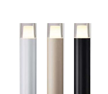 【法人様限定商品】メーカー直送 タカショー Takasho HBC-D37G エクスレッズポールライト 1型 グレイッシュゴールド (電球色) 旧品番 HBC-D02G