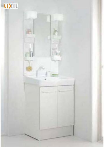 メーカー直送 LIXIL 洗面化粧台 オフト 間口600 1面鏡 LED 洗面器:ピュアホワイト 扉:ホワイト [FTVN-605SY1/VP1W+MFTX1-601YFJU]
