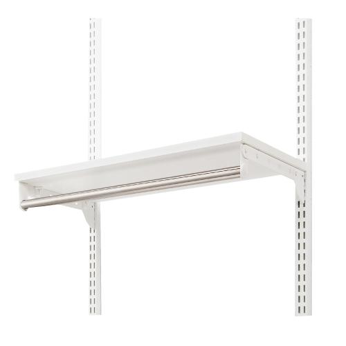 収納システム フィットラックエフ 棚パーツ TPセット(木棚+パイプセット) TP7530E サイズ: 幅750×奥行300 ×高さ19mm