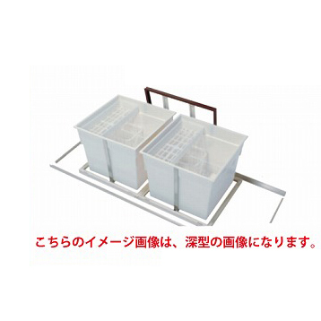 メーカー直送 送料無料 床下収納庫 アルミ枠 シルバー スライドタイプ・600角タイプ(2連)・浅型 吉川化成 [6ADSLSDJ]