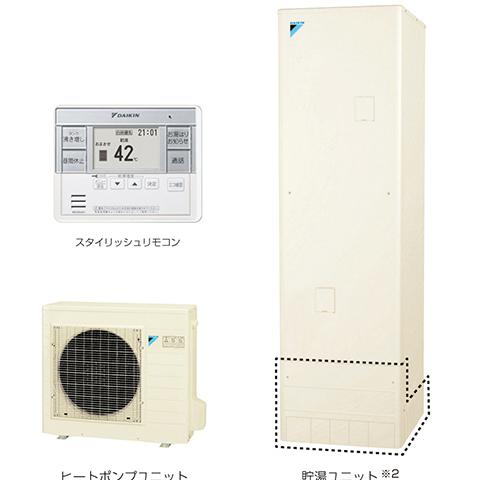 送料無料 DAIKIN エコキュート 寒冷地向け 給湯専用タイプ セット品番[EQ46THV] 角型 460リットル