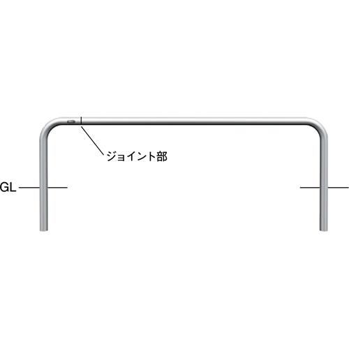 ※沖縄 離島への配送ができない商品です※ 人気海外一番 正規激安 メーカー直送 サンポール ジョイント自転車アーチ t2.0 AA-42UJ-1500 カラー:ステンレス ×WP1500×H350mm φ42.7