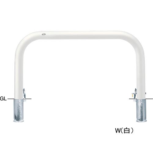 メーカー直送 サンポール アーチ φ101.6(t4.2)×W1500×H800mm カラー:白 [FAA-11SK15-800(W)]
