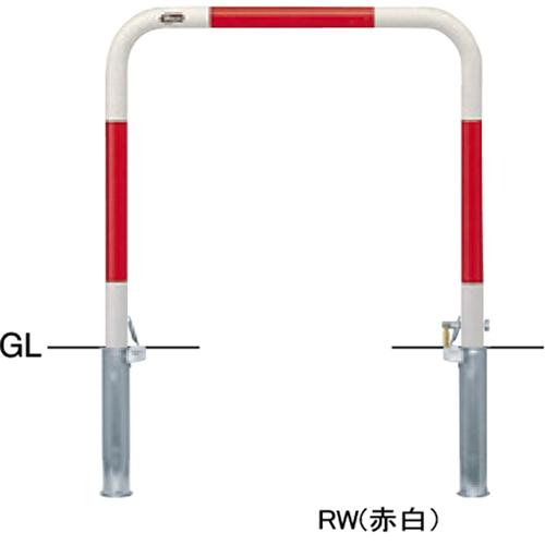 メーカー直送 サンポール アーチ φ42.7(t2.3)×W700×H650mm カラー:白 [FAA-42SK7-650(W)]