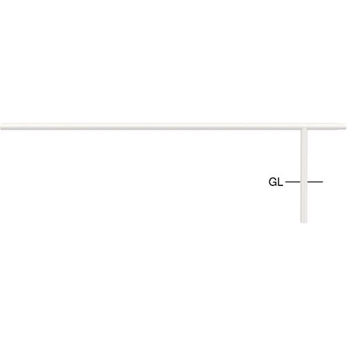 メーカー直送 サンポール ジョイント自転車アーチ 中間支柱 WP2000用 φ42.7(t2.3)×H350mm カラー:白 [FAA-42UJ20-P(W)]