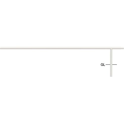 メーカー直送 サンポール ジョイント自転車アーチ 中間支柱 WP2400用 φ42.7(t2.3)×H350mm カラー:白 [FAA-42UJ24-P(W)]