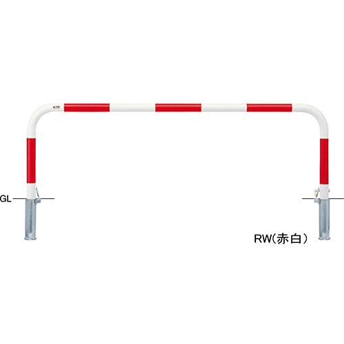 メーカー直送 サンポール アーチ φ60.5(t2.8)×W2000×H650mm カラー:赤白 [FAA-7SK20-650(RW)]