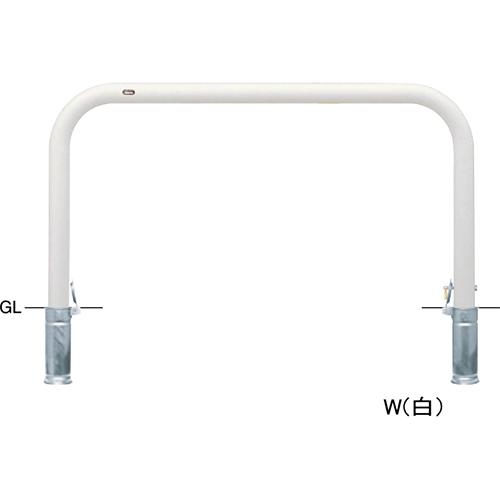 メーカー直送 サンポール アーチ  φ76.3(t3.2)×W1500×H800mm カラー:白 [FAA-8SK15-800(W)]