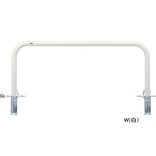 メーカー直送 サンポール アーチ φ76.3(t3.2)×W2000×H800mm カラー:白 [FAA-8SK20-800(W)]