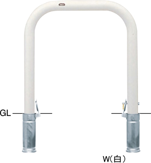 メーカー直送 サンポール アーチ 交換用本体のみ φ76.3(t3.2)×W750×H800mm カラー:白 [FAA-8SK75-800(W)HONTAI]