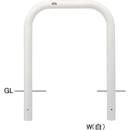 メーカー直送 サンポール アーチ φ76.3(t3.2)×W750×H800mm カラー:白 [FAA-8U75-800(W)]